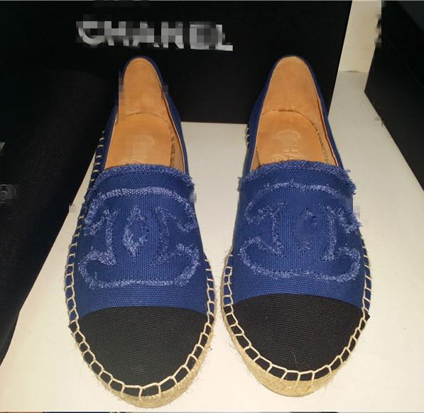 �ͧ��� Chanel - France purchasing stock bottomed female models 2015 spring classic Chanel chanel shoes, canvas shoes, fisherman shoes