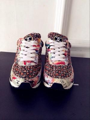 �ͧ��� Chanel - 2015 new Korean version of purchasing flats chanel sneakers weave shoes muffin casual shoes running shoes tide