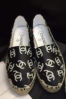 �ͧ��� Chanel - Home printing small fragrant double c printing fisherman fisherman shoes, shoes with the money printing fisherman Chanel shoes